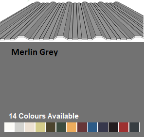 R32/1000 Corrugated Profiled Metal Sheeting Roof Cover Width 1000mm £13.20/mtr
